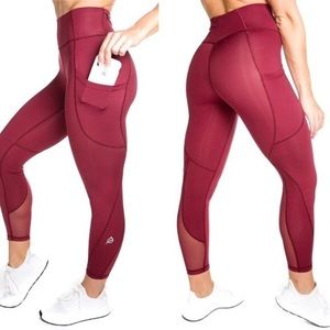 P'tula Crystal Legging Port Wine Red Size XL
